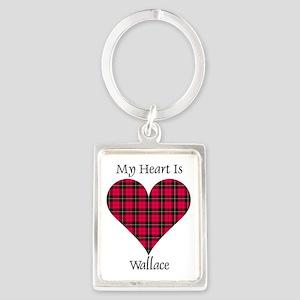 Heart-Wallace Portrait Keychain