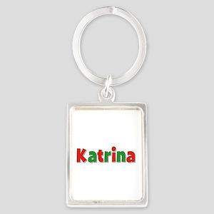 Katrina Christmas Portrait Keychain