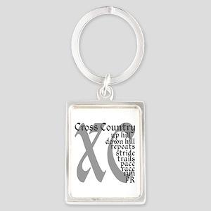 Cross Country XC grey gray Keychains