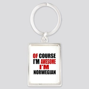 Of Course I Am Norwegian Portrait Keychain