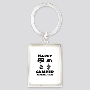 Happy Camper Personalized Portrait Keychain
