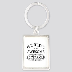 World's Most Awesome 80 Year Old Portrait Keychain
