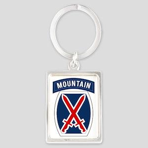 10th Mountain Portrait Keychain