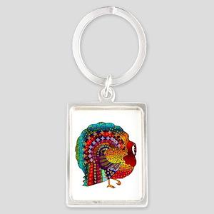 Thanksgiving Jeweled Turkey Keychains