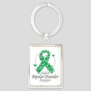 Bipolar-Disorder-Ribbon-of-Butte Portrait Keychain