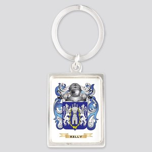 Kelly-(England) Coat of Arms (Fa Portrait Keychain