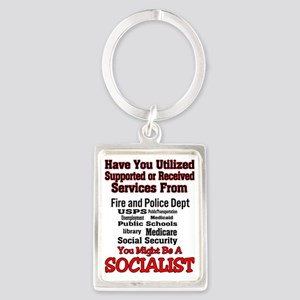 socialist Portrait Keychain