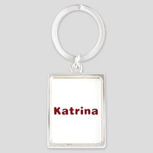 Katrina Santa Fur Portrait Keychain