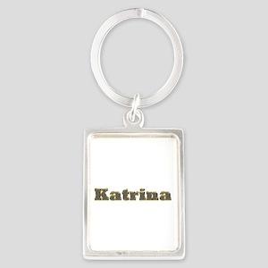 Katrina Gold Diamond Bling Portrait Keychain