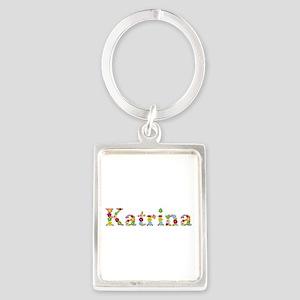 Katrina Bright Flowers Portrait Keychain