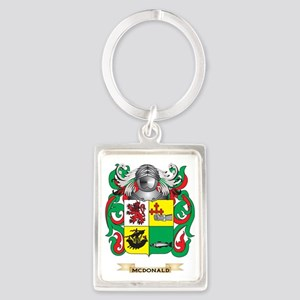 McDonald-(Slate) Coat of Arms -  Portrait Keychain