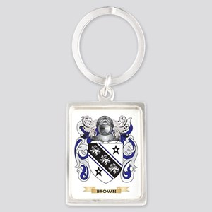 Brown Coat of Arms Portrait Keychain