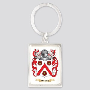White Family Crest (Coat of Arms Portrait Keychain