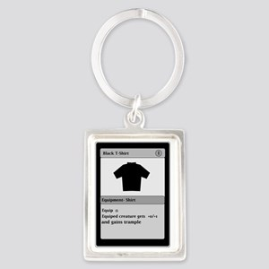 Funny Gamer T Shirt Portrait Keychain