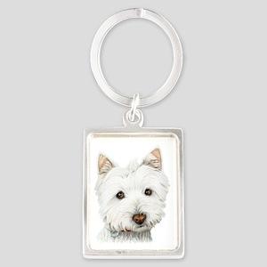 Cute West Highland White Terrier Dog Portrait Keyc