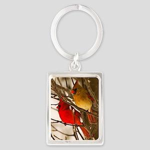 cardinals2poster Portrait Keychain