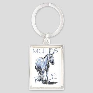 Mules Rule Portrait Keychain