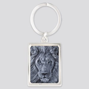 Bold Lion Portrait Keychain