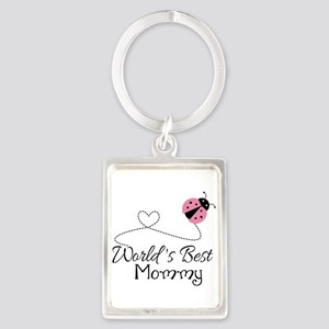 World's Best Mommy Portrait Keychain