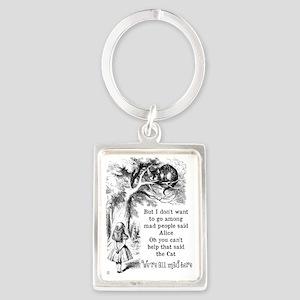 Alice in Wonderland Cat Portrait Keychain
