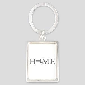 Massachusetts Home Portrait Keychain