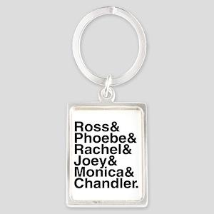 Friends Name List Portrait Keychain