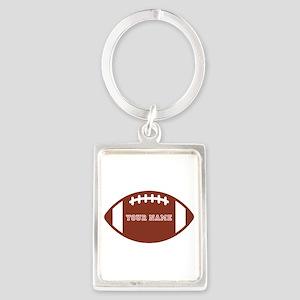 Custom name Football Portrait Keychain