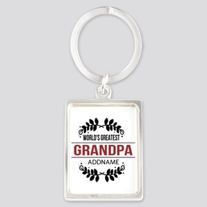 Custom Worlds Greatest Grandpa Portrait Keychain