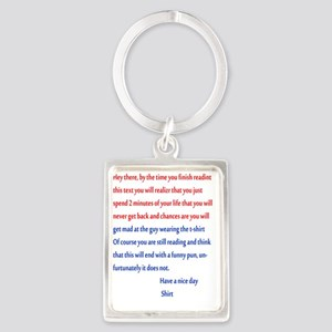 Confusing text Portrait Keychain