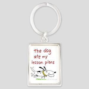 dog-ate-plans Portrait Keychain