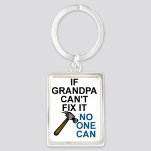 IF GRANDPA CAN'T FIT IT Portrait Keychain