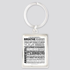 Yoga Manifesto by United Yogis Portrait Keychain