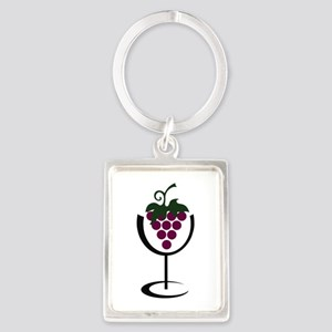 WINE GLASS GRAPES Keychains