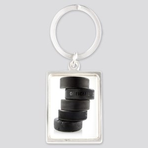 Official Ice Hockey Pucks Keychains
