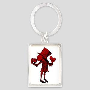 Haigha Red Fill Portrait Keychain