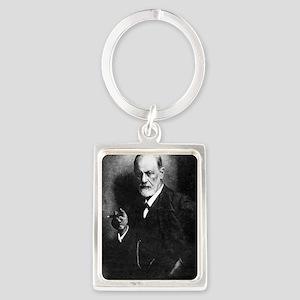 Sigmund Freud, Austrian psycholo Portrait Keychain
