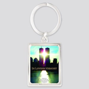 TWIN TOWERS POSTER FOR ALEX 7 1  Portrait Keychain