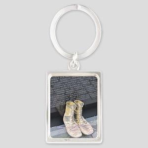 Boots at Vietnam Veterans Memori Portrait Keychain