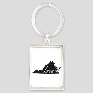 Love Virginia Portrait Keychain