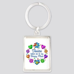 Theatre My Happy Place Portrait Keychain