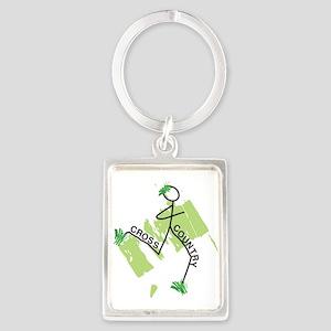 Cute Cross Country Runner Portrait Keychain