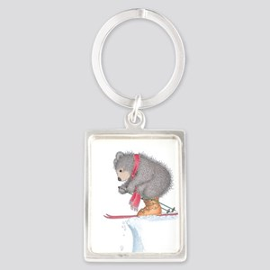 To Ski or Not to Ski Portrait Keychain