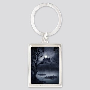 Gothic Night Fantasy Portrait Keychain