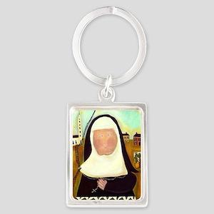 Nuns Stairway to Heaven Portrait Keychain