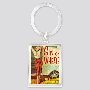Sin On Wheels Portrait Keychain