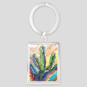 Cactus, southwest art! Portrait Keychain