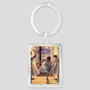 Edgar Degas Three Dancers In A P Portrait Keychain