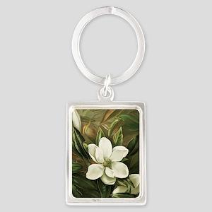 Magnolia Portrait Keychain