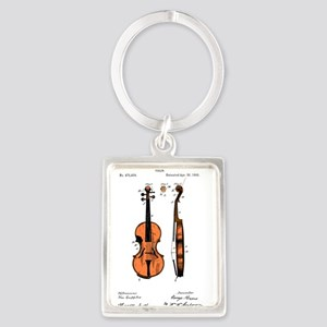 Fiddle / Violin Patent Portrait Keychain