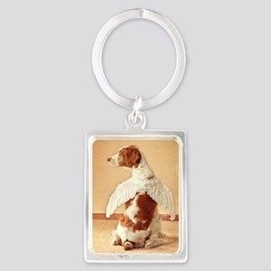 brittany angel mouse pad Portrait Keychain